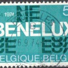 Sellos: BELGICA - UN SELLO - IVERT #1721 ***B E N E L U X*** - AÑO 1974 - USADO. Lote 156970370