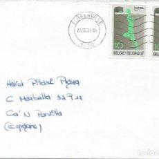 Sellos: 1991. BÉLGICA/BELGIUM. SOBRE CIRCULADO. FRANQUEO KORFBAL/KORFBALL. DEPORTES/SPORTS.. Lote 159957078
