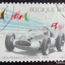 Sellos: 1996. DEPORTES. BÉLGICA. 2650. AUTOMOVILISMO. F1. MERCEDES BENZ (1939). SERIE COMPLETA. USADO.. Lote 161282242
