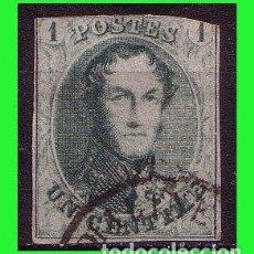 Sellos: 1858 BÉLGICA, LEOPOLDO I, IVERT Nº 9 (O). Lote 161804698