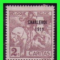 Sellos: 1910 BÉLGICA, EXPOSICIÓN DE ARTE BELGA DEL SIGLO XVII EN BRUSELAS, IVERT Nº 94 *. Lote 162311346