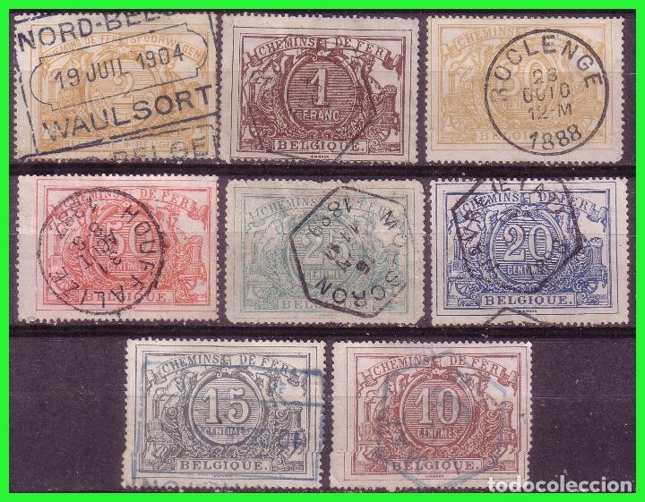 COLIS POSTALES, 1882, BÉLGICA, IVERT Nº 7 A 14 (O) COMPLETA (Sellos - Extranjero - Europa - Bélgica)