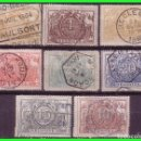 Sellos: COLIS POSTALES, 1882, BÉLGICA, IVERT Nº 7 A 14 (O) COMPLETA. Lote 162324238