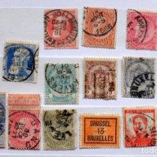 Sellos: LOTE 15 SELLOS ANTIGUOS DE BELGICA. Lote 164835122