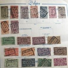 Sellos: SELLOS BELGICA CHEMINS DE FER 1937-42 23 UNID VER FOTOS. Lote 170309472