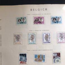Sellos: HOJAS SELLOS BELGICA PUIGFERRAT AÑO 1960 CON SERIES INCLUIDAS. VER IMAGENES. Lote 170336906