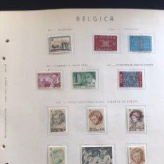 Sellos: SELLOS BELGICA AÑO 1963 MONTADOS EN HOJAS PUIGFERRAT. Lote 170338842