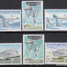 Sellos: BELGICA, 1960 YVERT Nº 1133 / 1138 /**/ . Lote 171636504