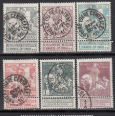 Timbres: BELGICA, 1910 YVERT Nº 84 / 91. Lote 171637807