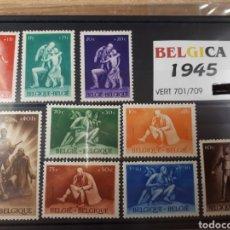 Sellos: SELLOS DE BELGICA AÑO 1945 LOT.N.737. Lote 172030447