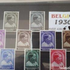 Sellos: SELLOS DE BELGUCA AÑO 1936 LOT.N.1040. Lote 172654424
