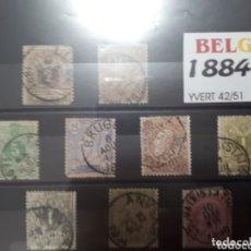 Sellos: SELLOS DE BELGICA AÑO 1884-91 LOT.N.1052. Lote 172655233