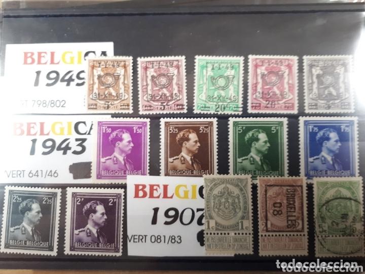 SELLOS DE BELGICA AÑOS 1907 1943 Y 1949 LOT.N.7032 (Sellos - Extranjero - Europa - Bélgica)