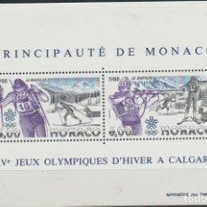 Timbres: LOTE G SELLOS HOJA MONACO JUEGOS OLIMPICOS DE INVIERNO MAS DE 20 EUROS CATALOGO. Lote 174583324