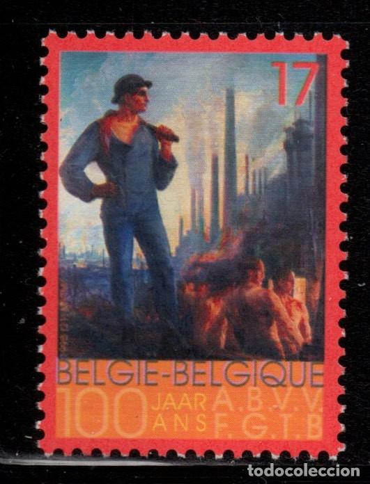BELGICA 2788** - AÑO 1998 - CENTENARIO DE LA F.G.T.B. - PINTURA - OBRA DE DRATZ (Sellos - Extranjero - Europa - Bélgica)