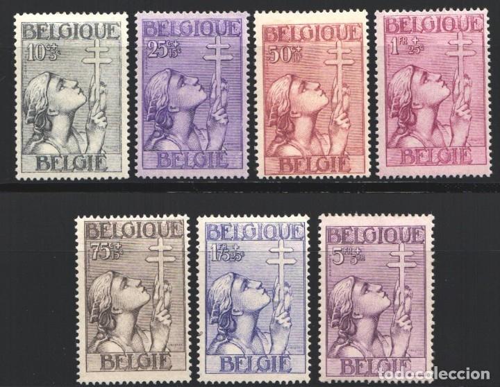 BELGICA, 1933 YVERT Nº 377 / 383 /*/ PRO TUBERCULOSIS (Sellos - Extranjero - Europa - Bélgica)