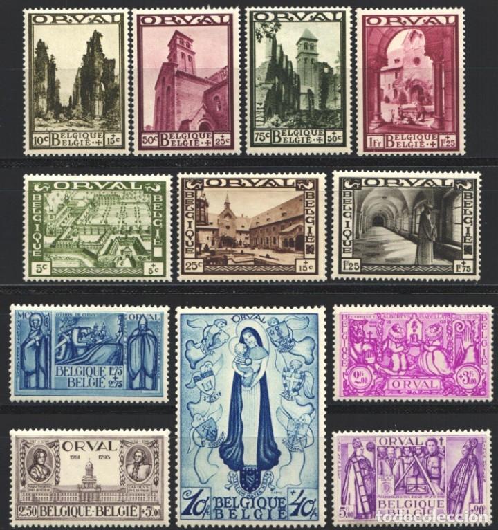 BELGICA, 1933 YVERT Nº 363 / 374 /*/ ORVAL (Sellos - Extranjero - Europa - Bélgica)