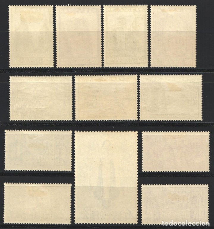 Sellos: BELGICA, 1933 YVERT Nº 363 / 374 /*/ Orval - Foto 2 - 178957396