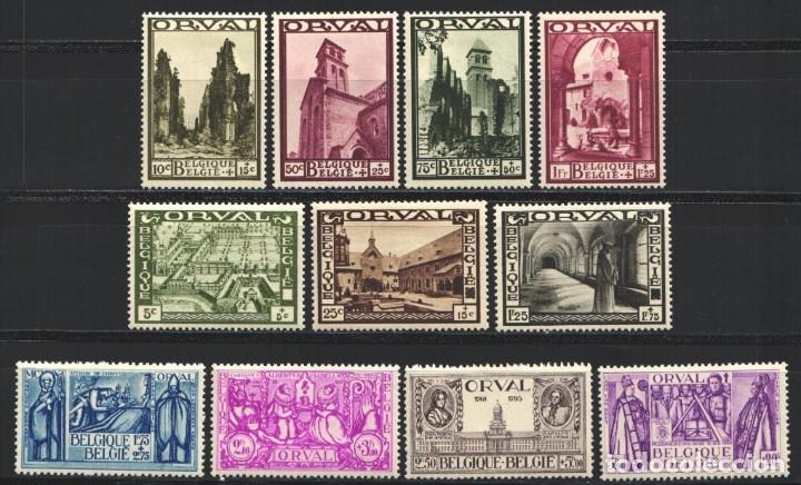 BELGICA, 1933 YVERT Nº 363 / 373 /*/ ORVAL (Sellos - Extranjero - Europa - Bélgica)