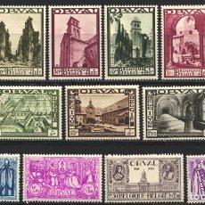 Sellos: BELGICA, 1933 YVERT Nº 363 / 373 /*/ ORVAL. Lote 178957545