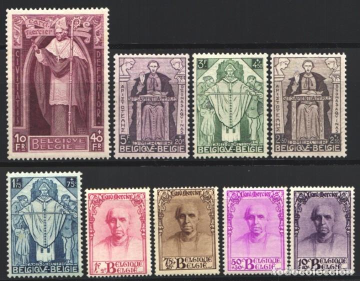 BELGICA, 1932 YVERT Nº 342 / 350 /*/ CARDENAL MERCIER, (Sellos - Extranjero - Europa - Bélgica)