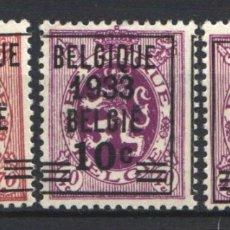 Sellos: BELGICA, 1933-34 YVERT Nº 375 / 376 /*/,. Lote 178960980