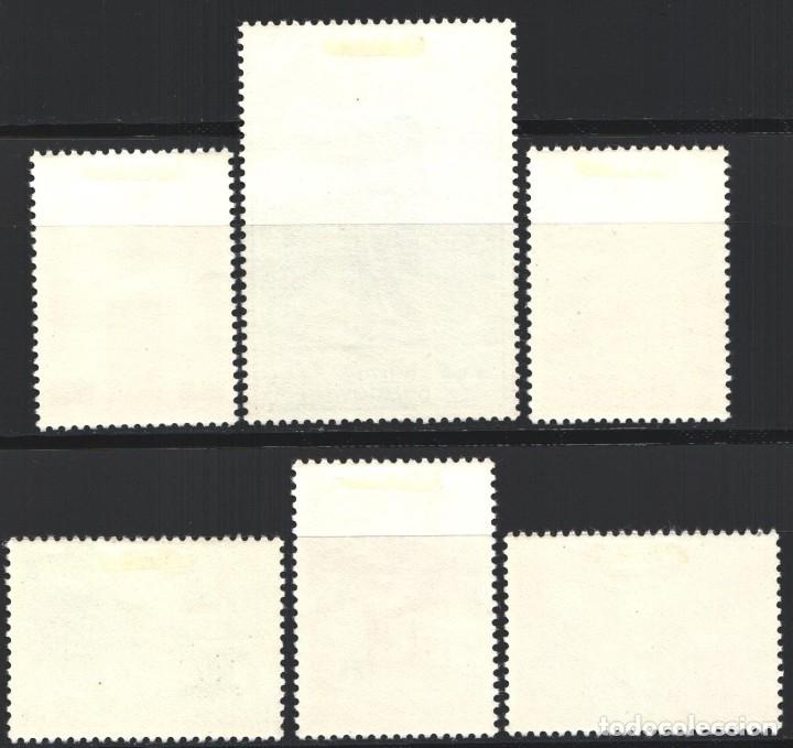 Sellos: BELGICA, 1954 YVERT Nº 946 / 951 /*/, Edificios / Esculturas, - Foto 2 - 178962676