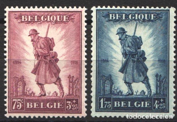BELGICA, 1932 YVERT Nº 351 / 352 /*/, MILITAR, GLORIA DE LA INFANTERÍA, (Sellos - Extranjero - Europa - Bélgica)