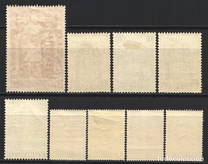 Sellos: BELGICA, 1932 YVERT Nº 342 / 350 /*/ Cardenal Mercier, - Foto 2 - 178963357