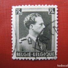 Sellos: -BELGICA 1938, LEOPOLDO III, YVERT 480. Lote 179062108