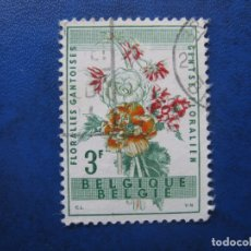Sellos: -BELGICA 1960, FLORES, YVERT 1123. Lote 179074475