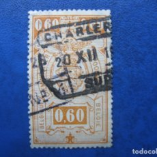 Sellos: -BELGICA 1923, YVERT 142 PAQUETE POSTAL. Lote 179100733