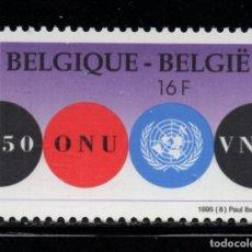 Sellos: BELGICA 2600** - AÑO 1995 - 50º ANIVERSARIO DE NACIONES UNIDAS. Lote 180114072