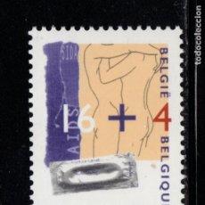 Sellos: BELGICA 2620** - AÑO 1995 - LUCHA CONTRA EL SIDA. Lote 180114273