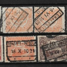 Sellos: BELGICA 1920-21 USADOS - 14/16. Lote 181163662