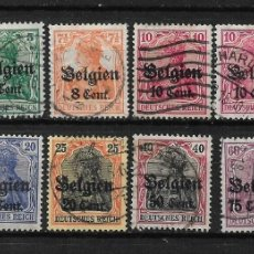 Sellos: BELGICA 1916-18 USADOS - 14/16. Lote 181170011