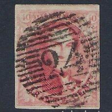 Sellos: BELGICA 1849 LEOPOLDO I 40C CARMIN Nº 8 . Lote 181674006