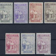 Sellos: BELGICA 1933 ANTITUBERCULOSIS Nº 356/362 *. Lote 181693512