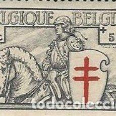 Sellos: BELGICA NUEVO YVERT 394 GOMA ORIGINAL RESTOS DE FIJASELLOS. Lote 188665088