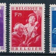 Sellos: BELGICA 1949 JACOB JORDAENS NUEVOS SIN SEÑAL DE FIJASELLOS. Lote 189951977