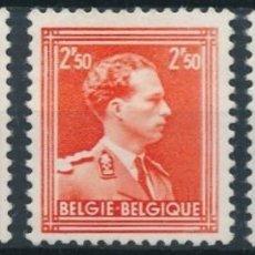Sellos: BELGICA 1956 Y&T 1005/7** LEOPOLDO III NUEVOS SIN SEÑAL DE FIJASELLOS. Lote 189952117