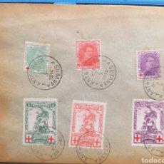 Sellos: BÉLGICA PRIMERA GUERRA MUNDIAL 1917 YVERT 131/136. Lote 193985786