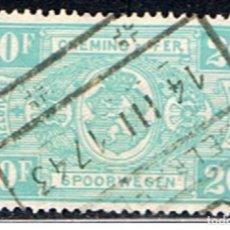 Sellos: BELGICA // YVERT 256 // 1941 ... FERROCARRIL ... USADO. Lote 194209895