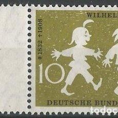 Sellos: ALEMANIA FEDERAL - 1958 - MI 281 - SELLO NUEVO CON MAX Y MORITZ - UN CUENTO DE WILHELM BUSCH . Lote 194727981