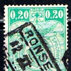 Sellos: BELGICA // YVERT 138 // 1923-31 ... FERROCARRIL ... USADO. Lote 195235918