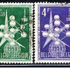 Sellos: BELGICA // YVERT 1008, 1008A, 1009, 1010 // 1957 ... USADOS. Lote 195312480