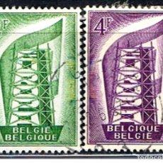 Sellos: BELGICA // YVERT 994, 995 // 1956 ... USADOS. Lote 195312730