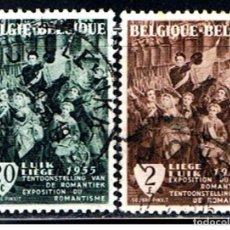 Sellos: BELGICA // YVERT 971, 972 // 1955 ... USADOS. Lote 195313182