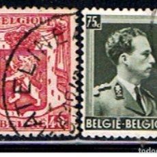 Sellos: BELGICA // YVERT 479, 480 // 1938 ... USADO. Lote 195315761