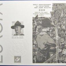 Sellos: PRUEBA EN NEGRO DE LA SERIE EUROPA DE BELGICA DEL AÑO 2007.NUEVA Y SIN FIJASELLOS.. Lote 198396716